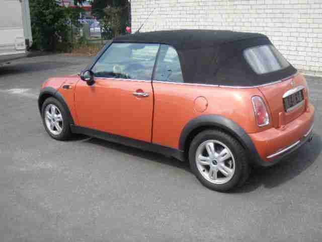 mini mini one cabrio klimaanlage alufelgen neue artikel der marke mini. Black Bedroom Furniture Sets. Home Design Ideas