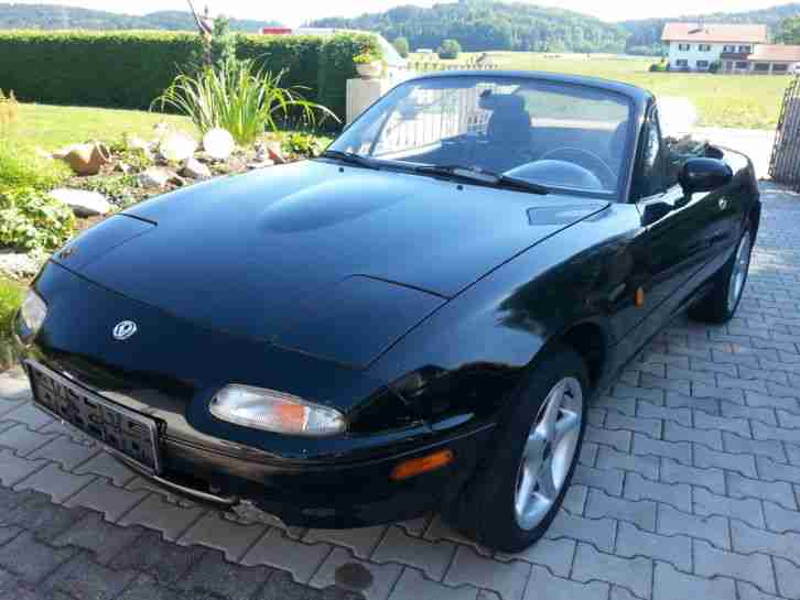 mazda mx5 na baujahr1989 schwarz cabrio beste. Black Bedroom Furniture Sets. Home Design Ideas