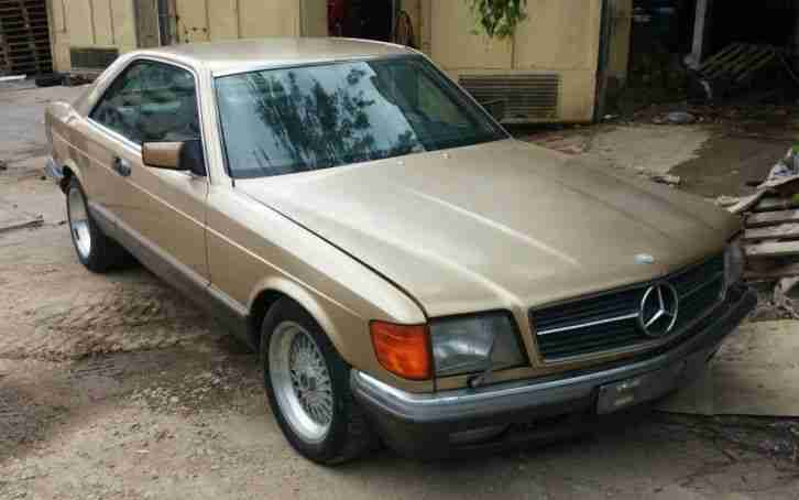 Mercedes 380 sec coupe oldtimer voll austattung