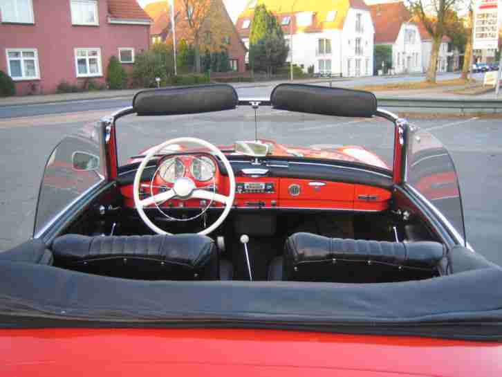 Mercedes-Benz 190 SL W121 BJ 1962 rot Cabrio Roadster Oldtimer