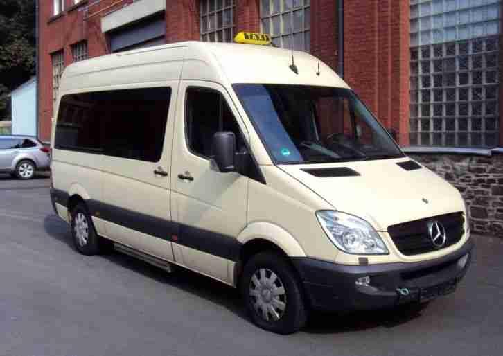 mercedes sprinter 212 taxi hochdach 9 sitzer nutzfahrzeuge angebote. Black Bedroom Furniture Sets. Home Design Ideas
