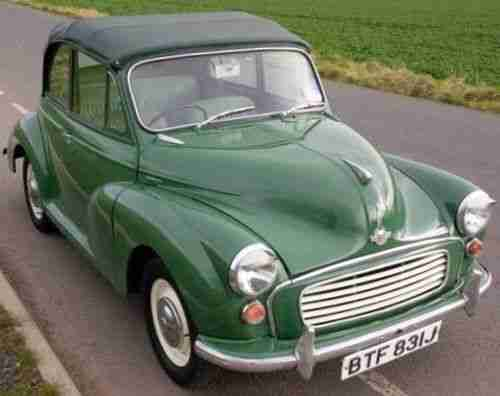 Morris Minor Convertible Cabrio '70 in Almond Green