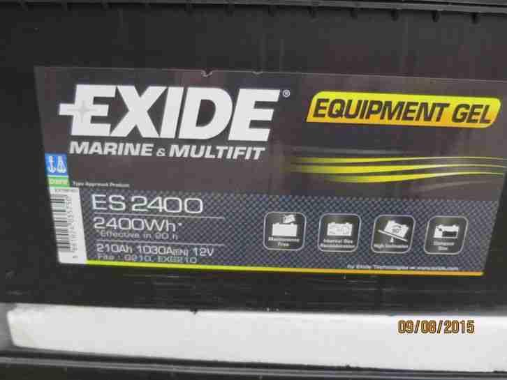 neuwertig nicht benutzte exide gel batterie wohnwagen. Black Bedroom Furniture Sets. Home Design Ideas