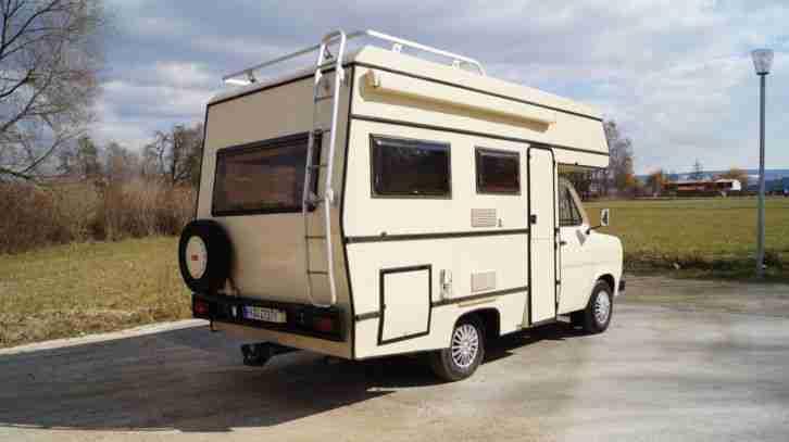 Oldtimer Wohnmobil Ford Transit 100 Diesel Wohnwagen