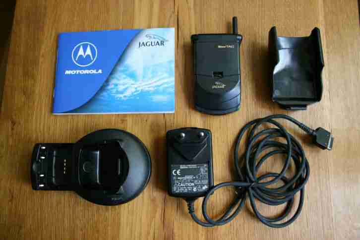 Original Jaguar Handy Motorola, StarTac 130 Jaguar Software mit Zubehör