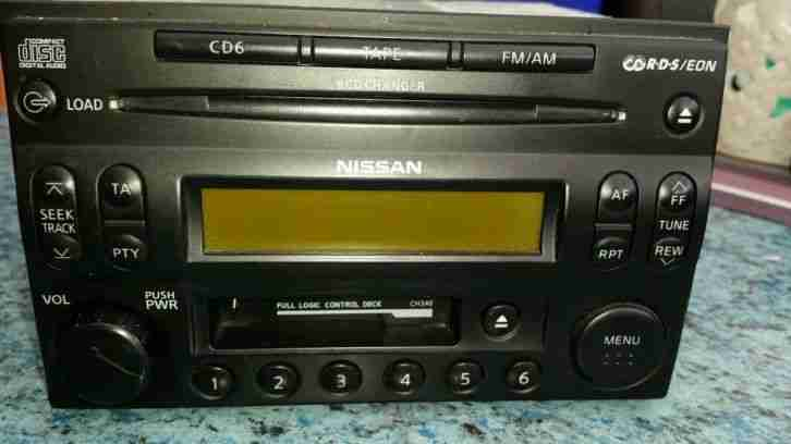 original nissan radio mit 6 fach cd wechsler tolle. Black Bedroom Furniture Sets. Home Design Ideas