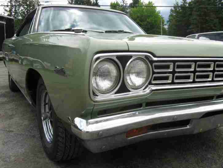 PLYMOUTH SATELLITE COUPE 1968 mit 318cui V8 Matching Numbers