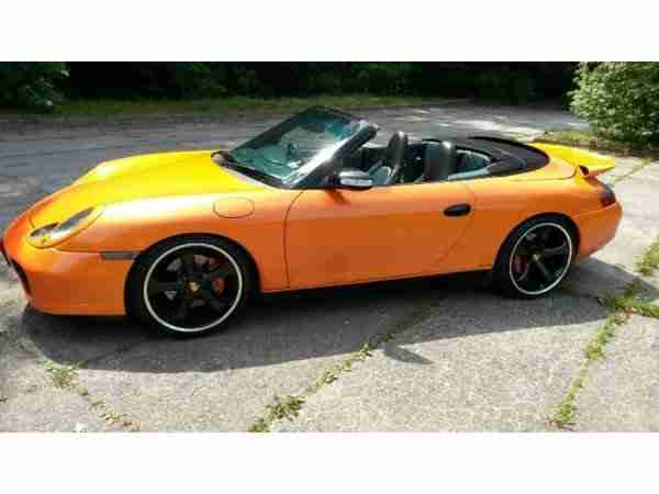 996 911 CABRIO CARRERA 4 ORANGE TOP ZUSTAND