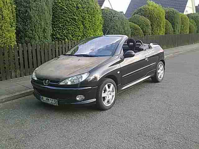 peugeot 206 cc hdi 1 6 cabrio diesel ahk tolle angebote in peugeot. Black Bedroom Furniture Sets. Home Design Ideas