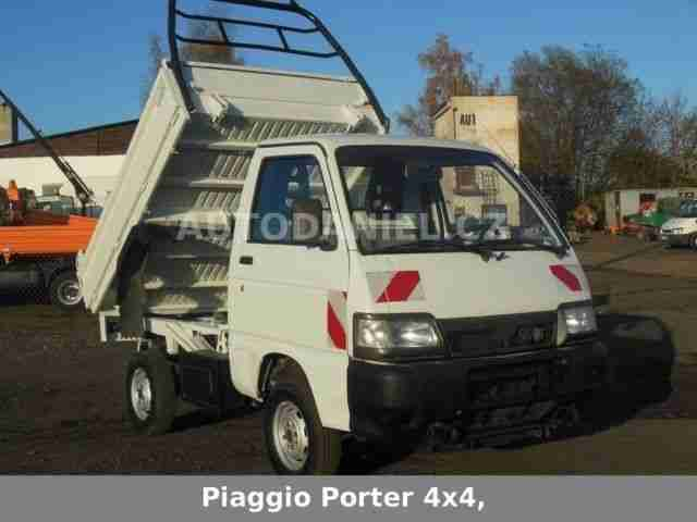 piaggio porter 4x4 kipper kriechgang nutzfahrzeuge. Black Bedroom Furniture Sets. Home Design Ideas