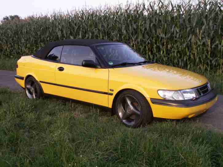 saab 900 cabrio mellow yellow sondermodell lpg tolle. Black Bedroom Furniture Sets. Home Design Ideas