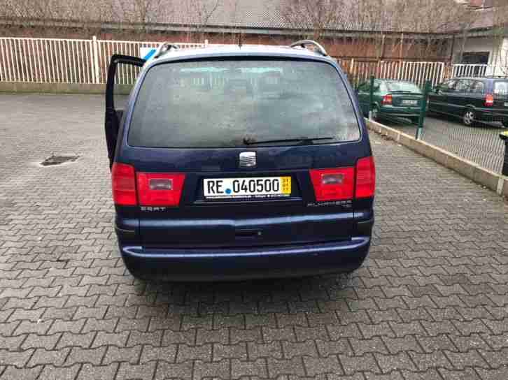 seat alhambra 1 9 tdi kids 8 fach bereift shz autos f r. Black Bedroom Furniture Sets. Home Design Ideas