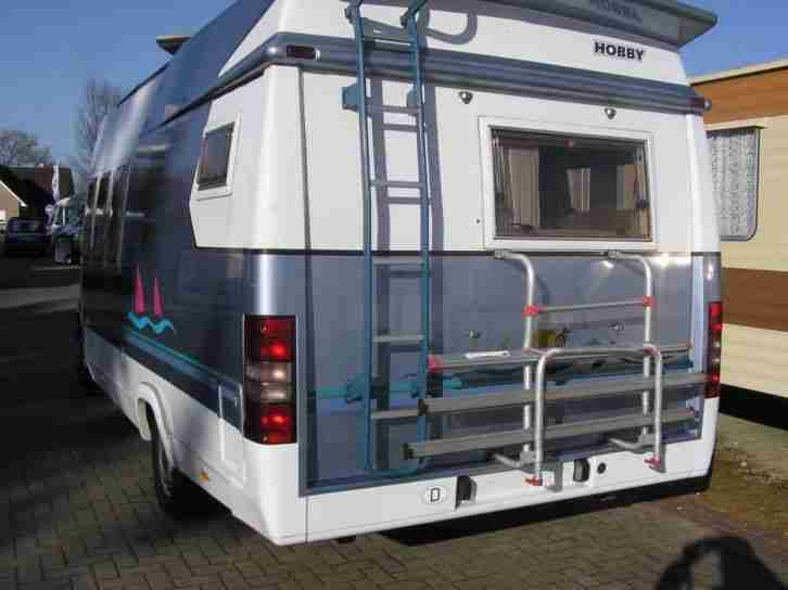 sehr sch nes reisemobil hobby 600 bj 1997 wohnwagen. Black Bedroom Furniture Sets. Home Design Ideas