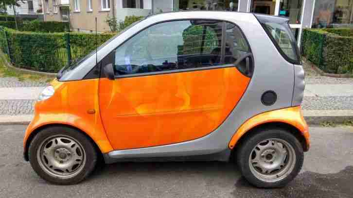 Smart City Coupe Passion Aqua Orange/Grau mit Motorschaden