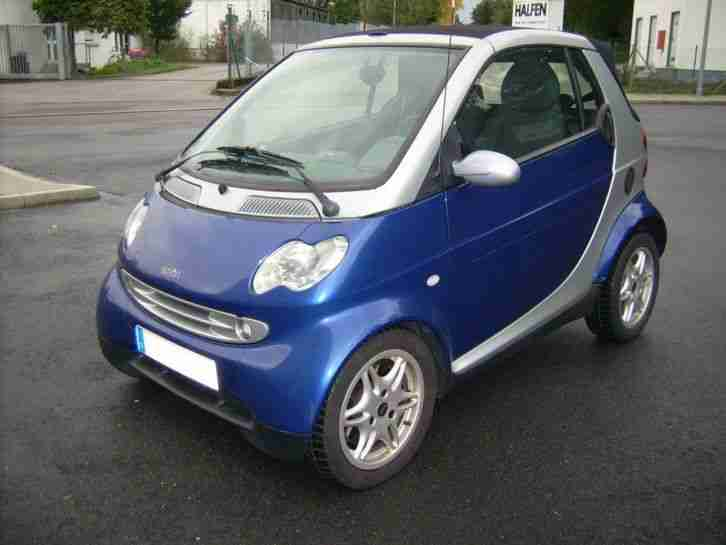 Smart Fortwo Cabrio Passion 54 PS EZ 2001 HU 11 19 ATM bei 45000 km mit Belegen