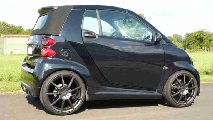 smart fortwo cabrio brabus xclusive 200km h grosse. Black Bedroom Furniture Sets. Home Design Ideas