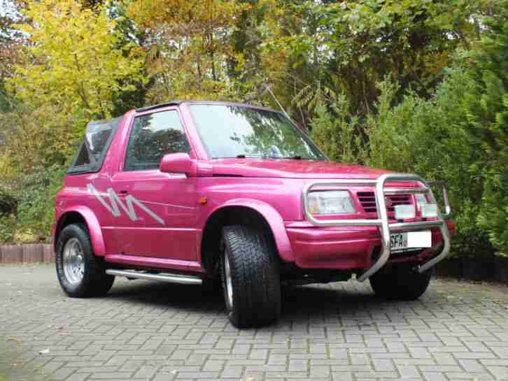 suzuki vitara cabrio 1 6 16v 97ps bj98 pink neue. Black Bedroom Furniture Sets. Home Design Ideas