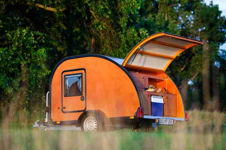 teardroptrailer mini caravan caravan wohnwagen wohnmobile. Black Bedroom Furniture Sets. Home Design Ideas
