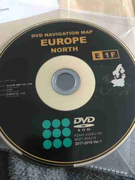 Lexus Navi DVD 2017 2018 E1F North Europe