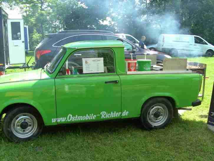 trabant trabi pick up mit holzkohlegrill food angebote gebrauchtwagen trabant. Black Bedroom Furniture Sets. Home Design Ideas