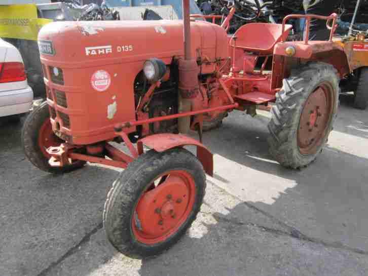traktor schlepper fahr d 135 nutzfahrzeuge angebote. Black Bedroom Furniture Sets. Home Design Ideas