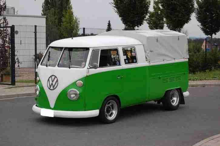 vw bus t1 doka doppelkabine porsche motor ca topseller oldtimer car group. Black Bedroom Furniture Sets. Home Design Ideas