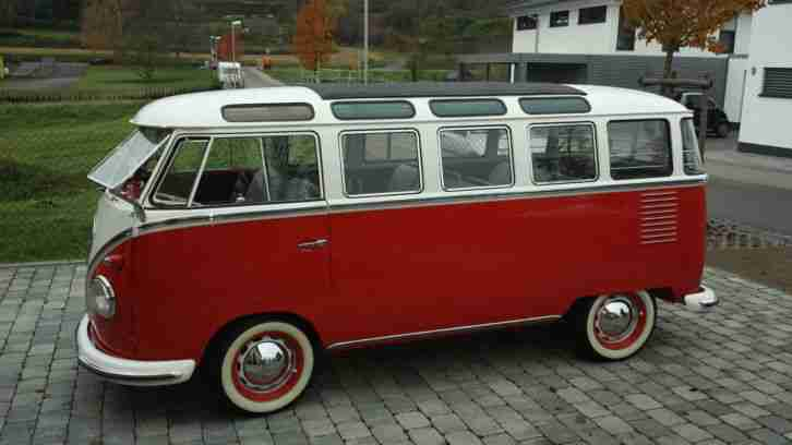 vw t1 samba 23 fenster bus 1960 original top topseller oldtimer car group. Black Bedroom Furniture Sets. Home Design Ideas