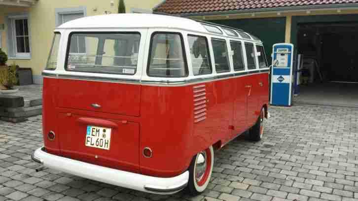 vw t1 samba 23 fenster bus 1960 original top topseller oldtimer car group. Black Bedroom Furniture Sets. Home Design Ideas