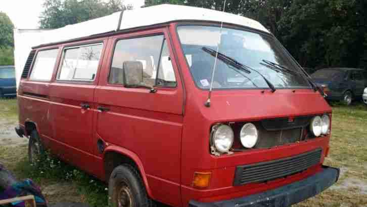 vw t3 td camper westfalia wohnwagen wohnmobile. Black Bedroom Furniture Sets. Home Design Ideas
