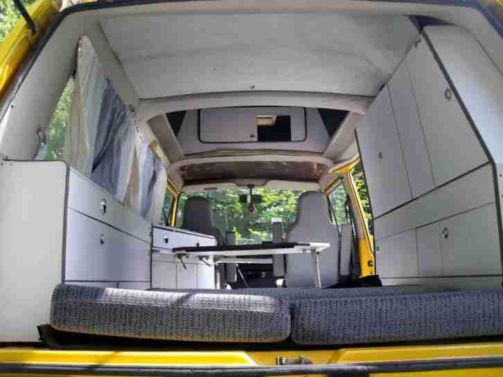 vw t3 wohnmobil liebhaber bastlerfahrzeug mit wohnwagen. Black Bedroom Furniture Sets. Home Design Ideas