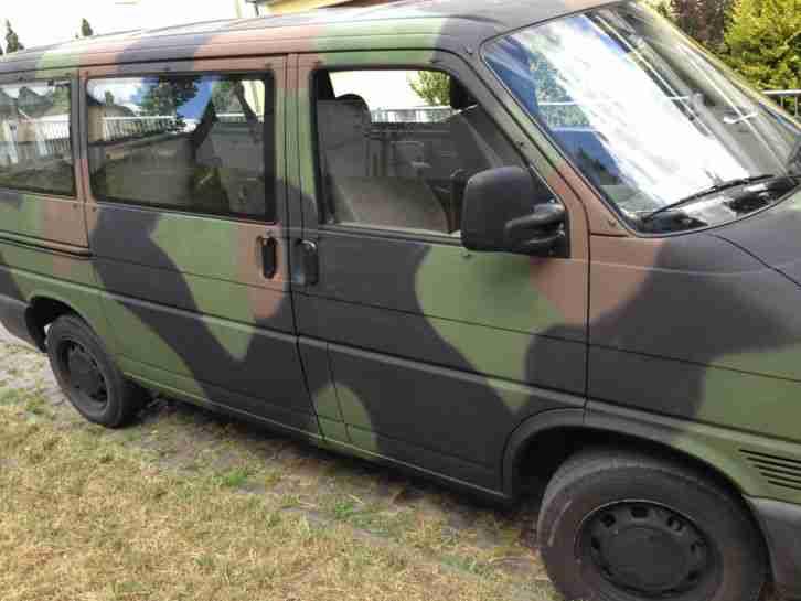 vw transporter t4 2 4 diesel bundeswehr 1 hand neue. Black Bedroom Furniture Sets. Home Design Ideas