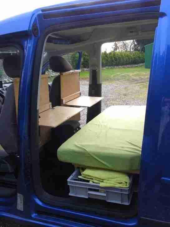 volkswagen caddy maxi tdi dsg als camper oder 7. Black Bedroom Furniture Sets. Home Design Ideas