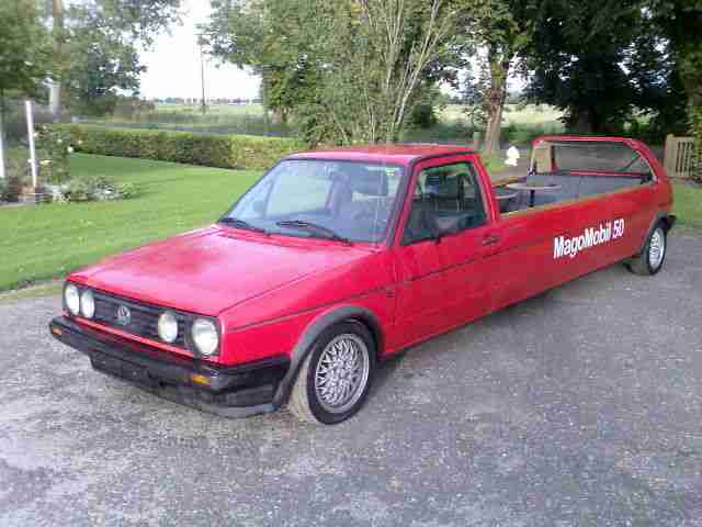UNIKAT: VW Golf II GTD LONG CAB Ez. 1985 ,