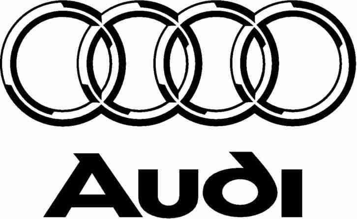 Wandtattoo Audi Amp 4 Rings Emblem Combo Garage Tolle