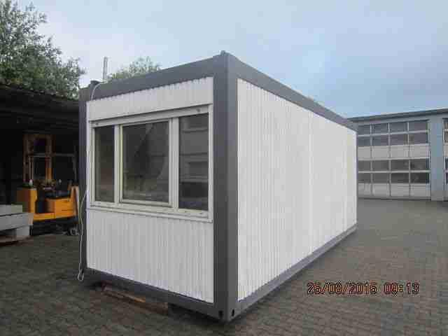 Wohncontainer container 20 ft 6 00 m mit sep wohnwagen for Kleiner wohncontainer