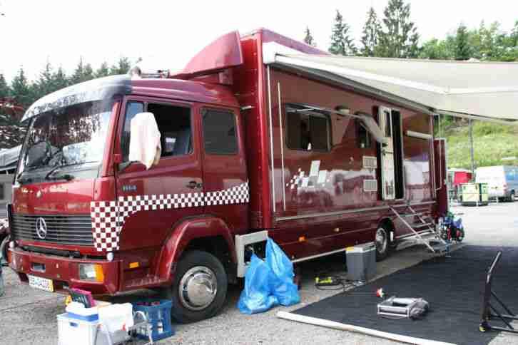 Wohnmobil Daimler Benz 814 L Pferde Wohnwagen