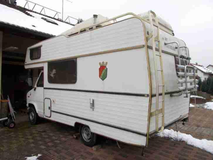wohnmobil peugeot j5 euramobil 560 1985 zum wohnwagen. Black Bedroom Furniture Sets. Home Design Ideas