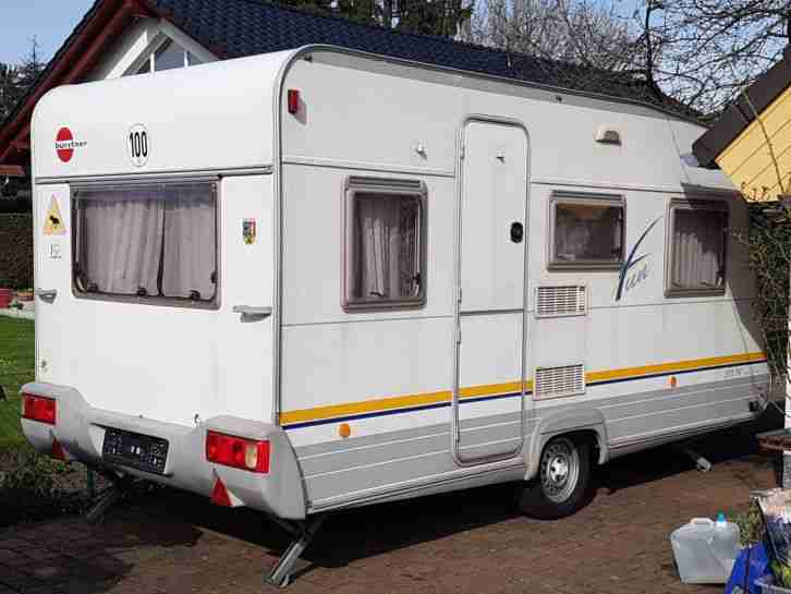 wohnwagen b rstner fun 390tn mit vorzelt wohnwagen. Black Bedroom Furniture Sets. Home Design Ideas
