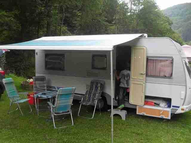 wohnwagen dethleffs c 510 tk mit etagenbetten wohnwagen wohnmobile. Black Bedroom Furniture Sets. Home Design Ideas