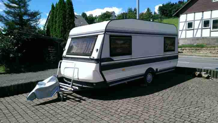 wohnwagen hobby 460 prestige 100 kmh t v neu wohnwagen. Black Bedroom Furniture Sets. Home Design Ideas