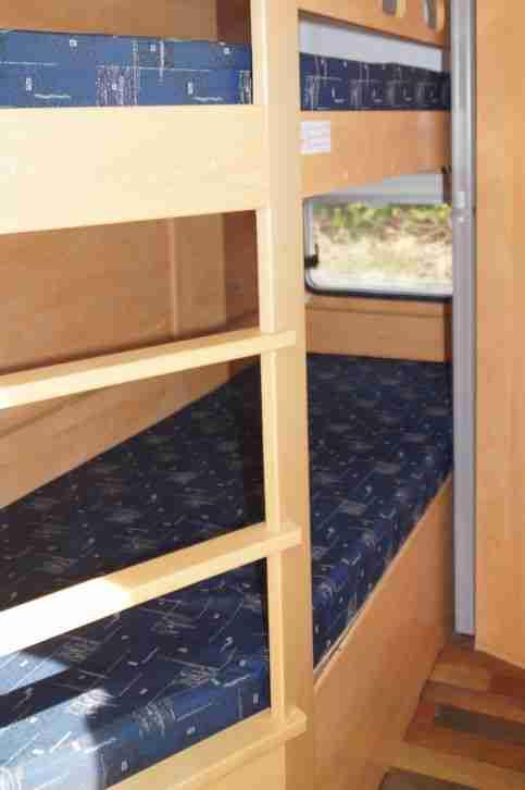 wohnwagen sunlight c51k 5 schlafpl tze hochbett wohnwagen wohnmobile. Black Bedroom Furniture Sets. Home Design Ideas