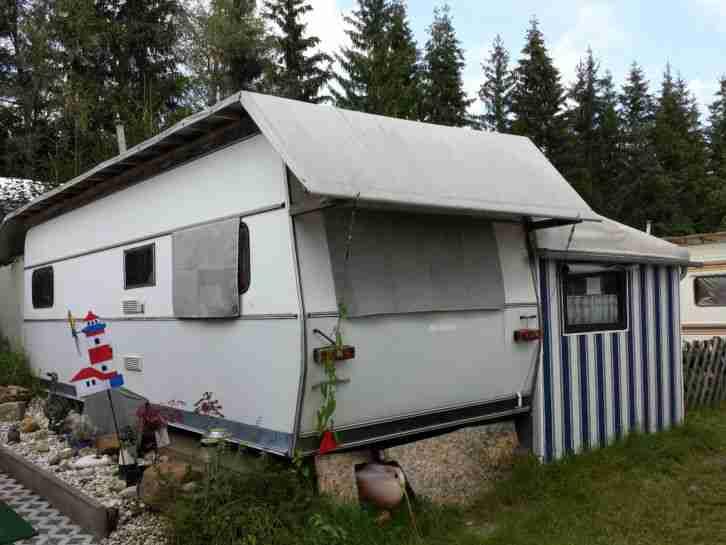 wohnwagen mit festem vorzelt auf wohnwagen wohnmobile. Black Bedroom Furniture Sets. Home Design Ideas