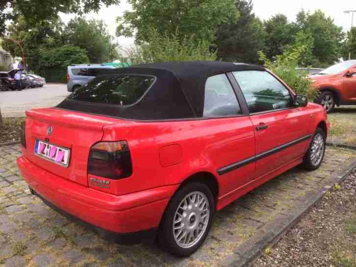 Youngtimer Cabrio VW Karmann VW Golf 3 Cabrio, Golf III Kultauto, war im TV